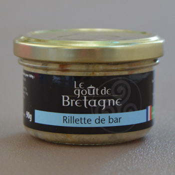 Rillettes de bar bio 90g