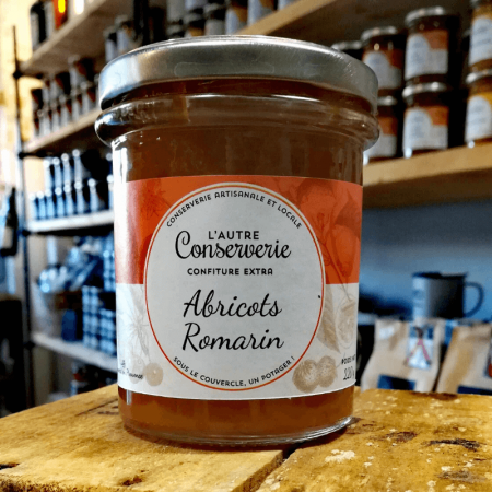 Confiture abricots romarin 220g