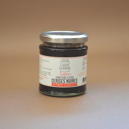 Confiture de cerise noire au piment d'Espelette 200g