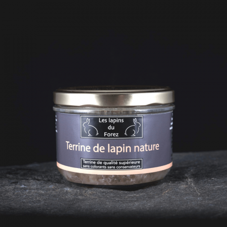 Terrine de lapin nature 180g