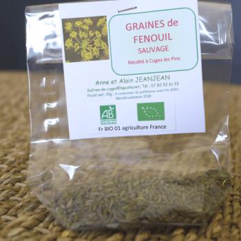 Graines de fenouil bio 10g