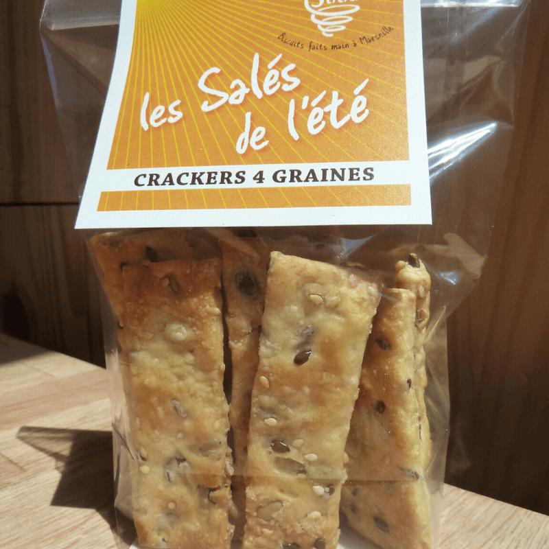 Crackers aux 4 graines 100g