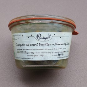 Escargots au court-bouillon bio