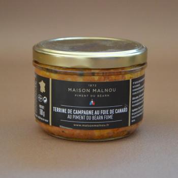 Terrine de campagne au canard et piment du Béarn