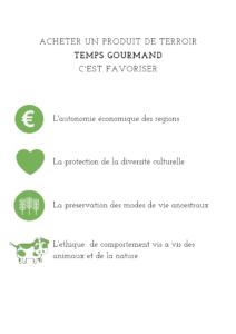 Engegement et valeurs produits de terroir Temps Gourmand