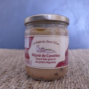 mijotés de canettes au foie gras