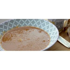 Soupe de poisson artisanale, bisque de langoustine, crabe ou homard