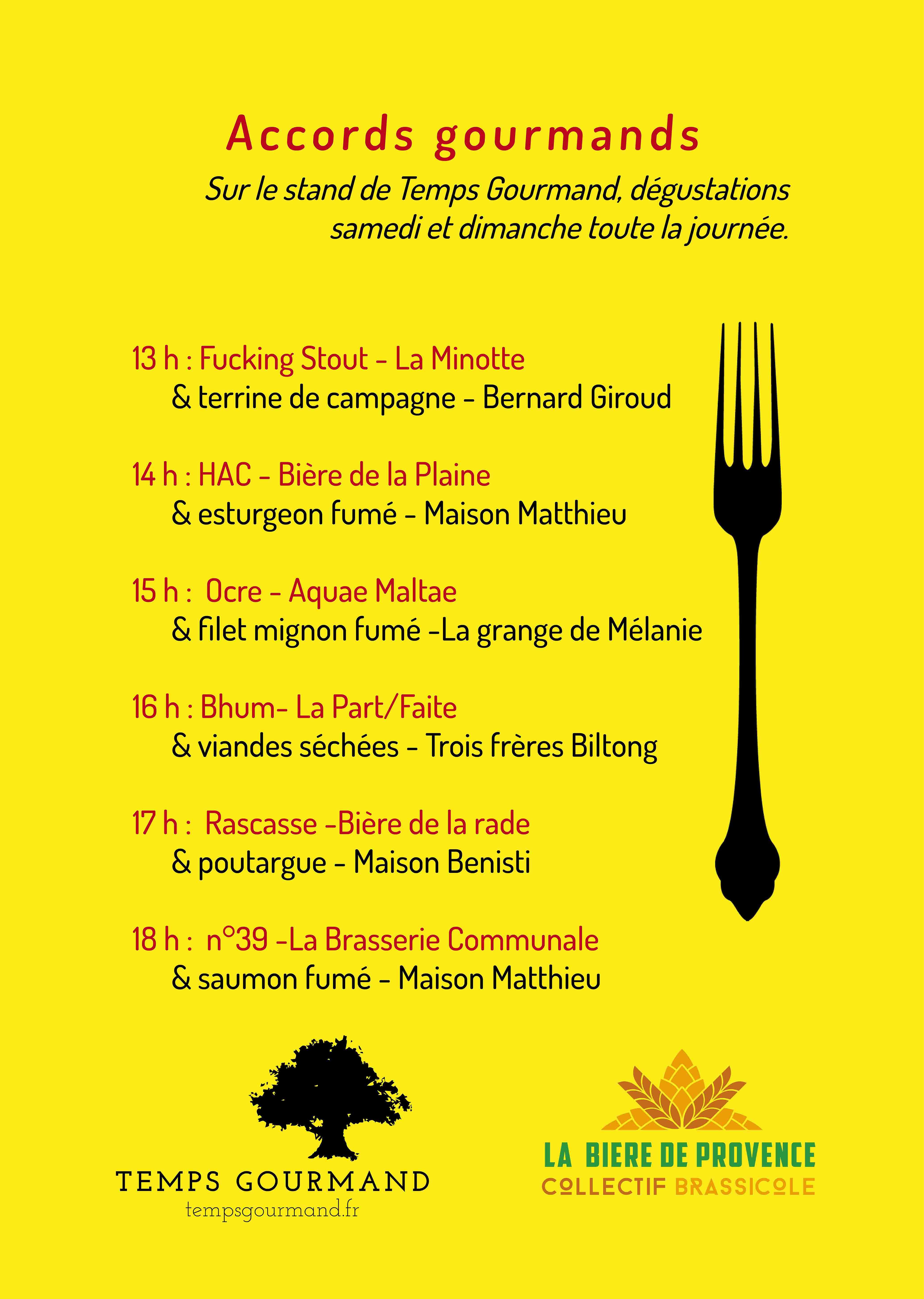 Affiche Provence Bière Connexion et Temps Gourmand