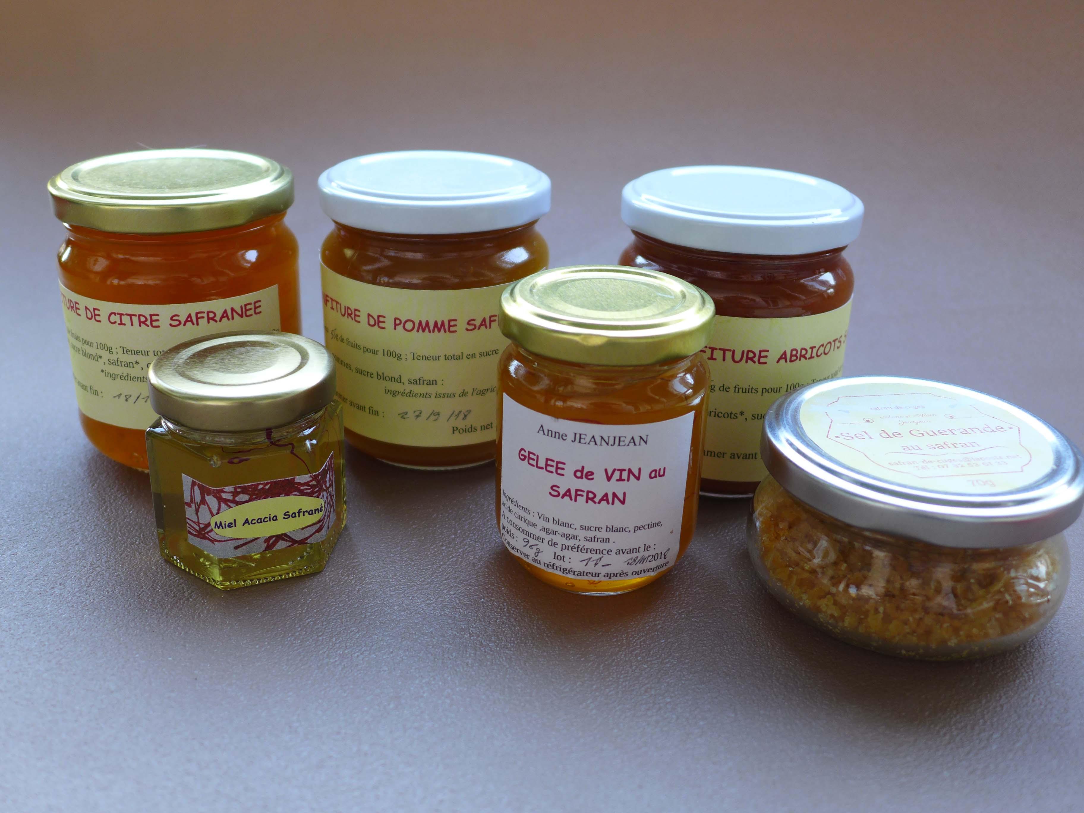 Produits au safran bio de Provence